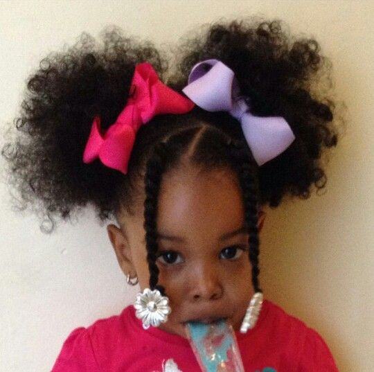 Afro Puffs Natural Hairstyles For Kids Lil Girl Hairstyles