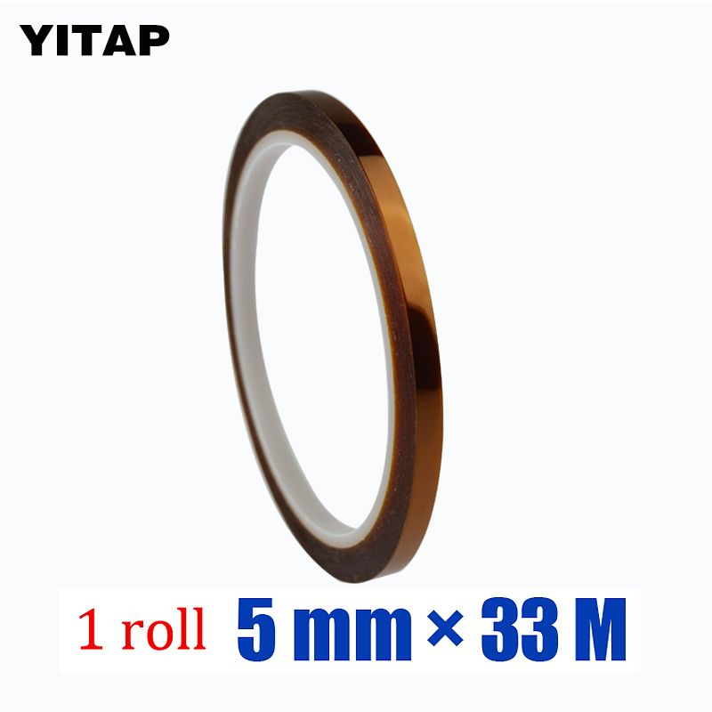 18.82US $ |1roll* 5 mm* 33M  0.06mm 200 degree heat resistant Masking Protection Heat Resistant Silicone Adhesive Coated Polyimide Tape|tape tape|tape maskingtape adhesive - AliExpress