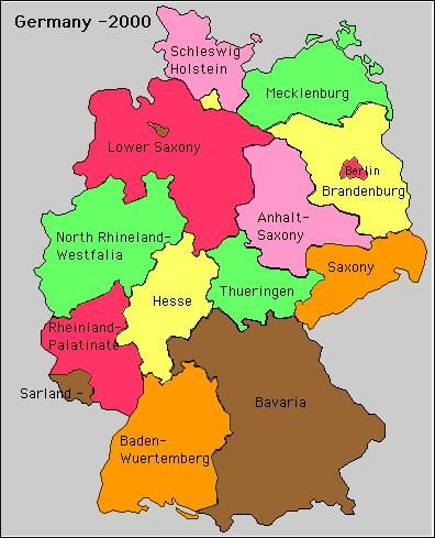 Map Of Germany 2000.German States In 2000 Germans From Russia In 2019 Bavaria