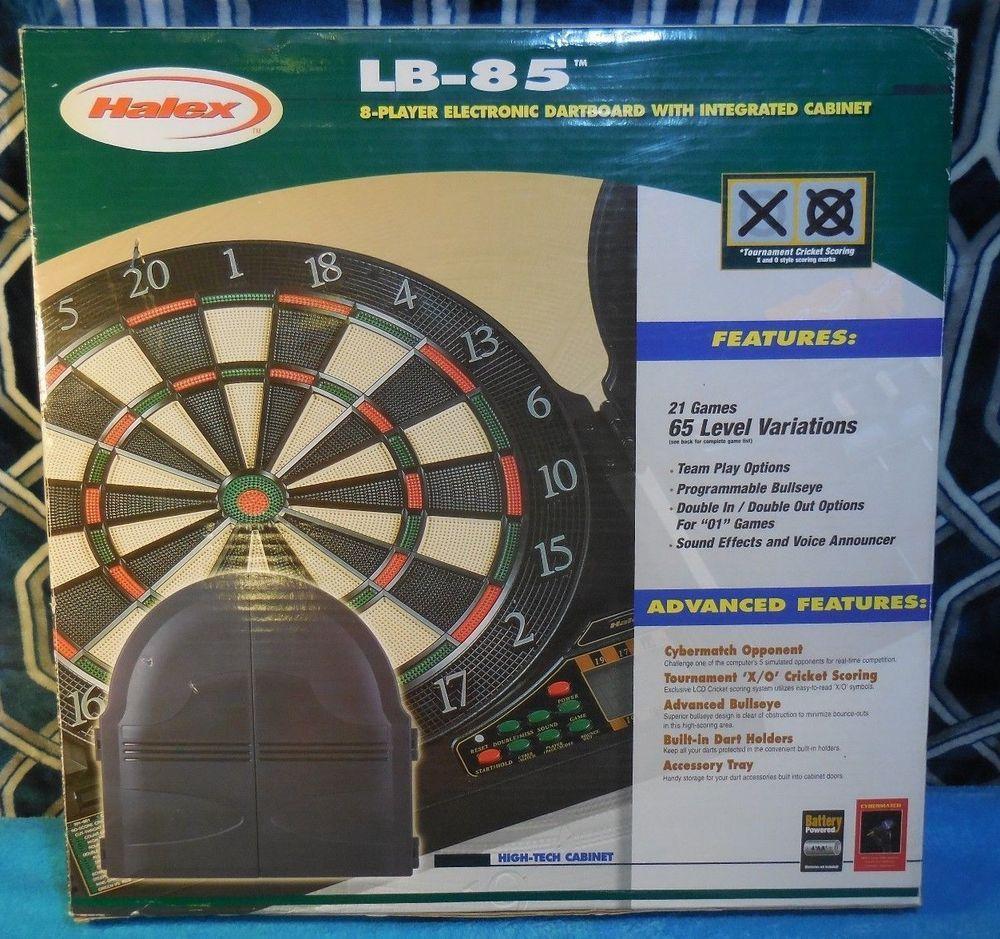 Halex Lb 85 8 Player Electronic Dartboard With Integrated Cabinet 64435 Halex Electronic Dart Board Dart Board Cricket Score