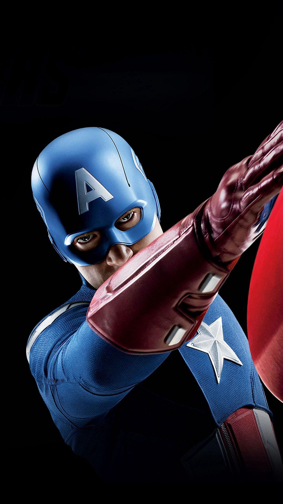 Avengers Captain America Illust Art Portrait iPhone 6
