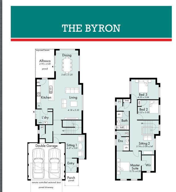 Byron narrow  block  House  designs  Pinterest House
