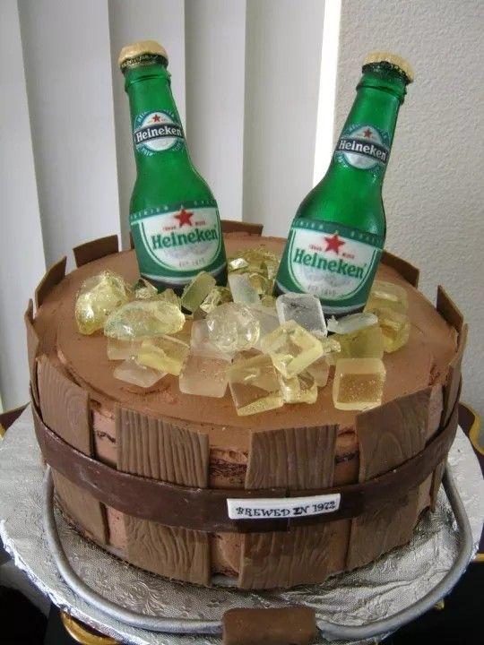 Beer Cake Birthday Cake Idea In 2019 Cake Beer Bottle