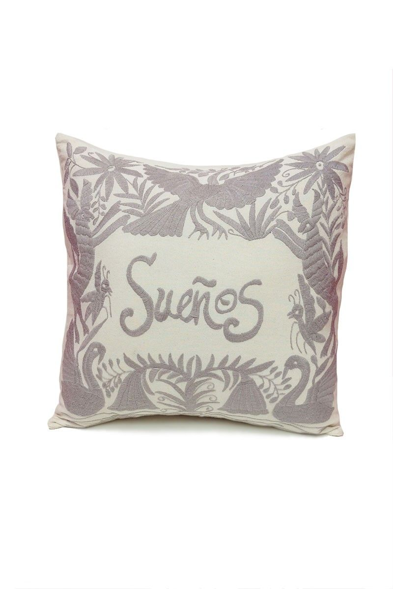 Otomi embroidered pillowcase home is where the heart is