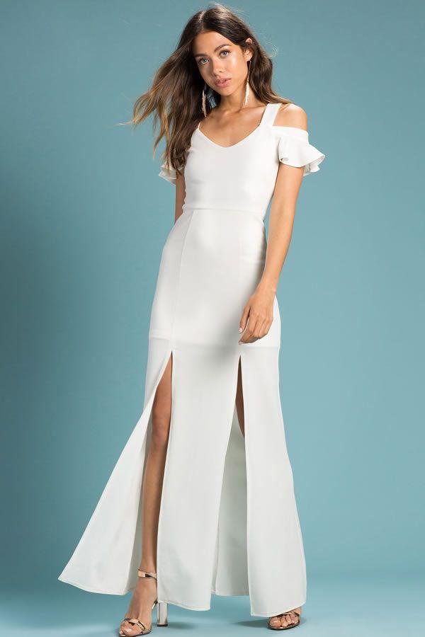 Vestidos largos sencillos de fiesta Agaci Store | Wedding & Baby ...