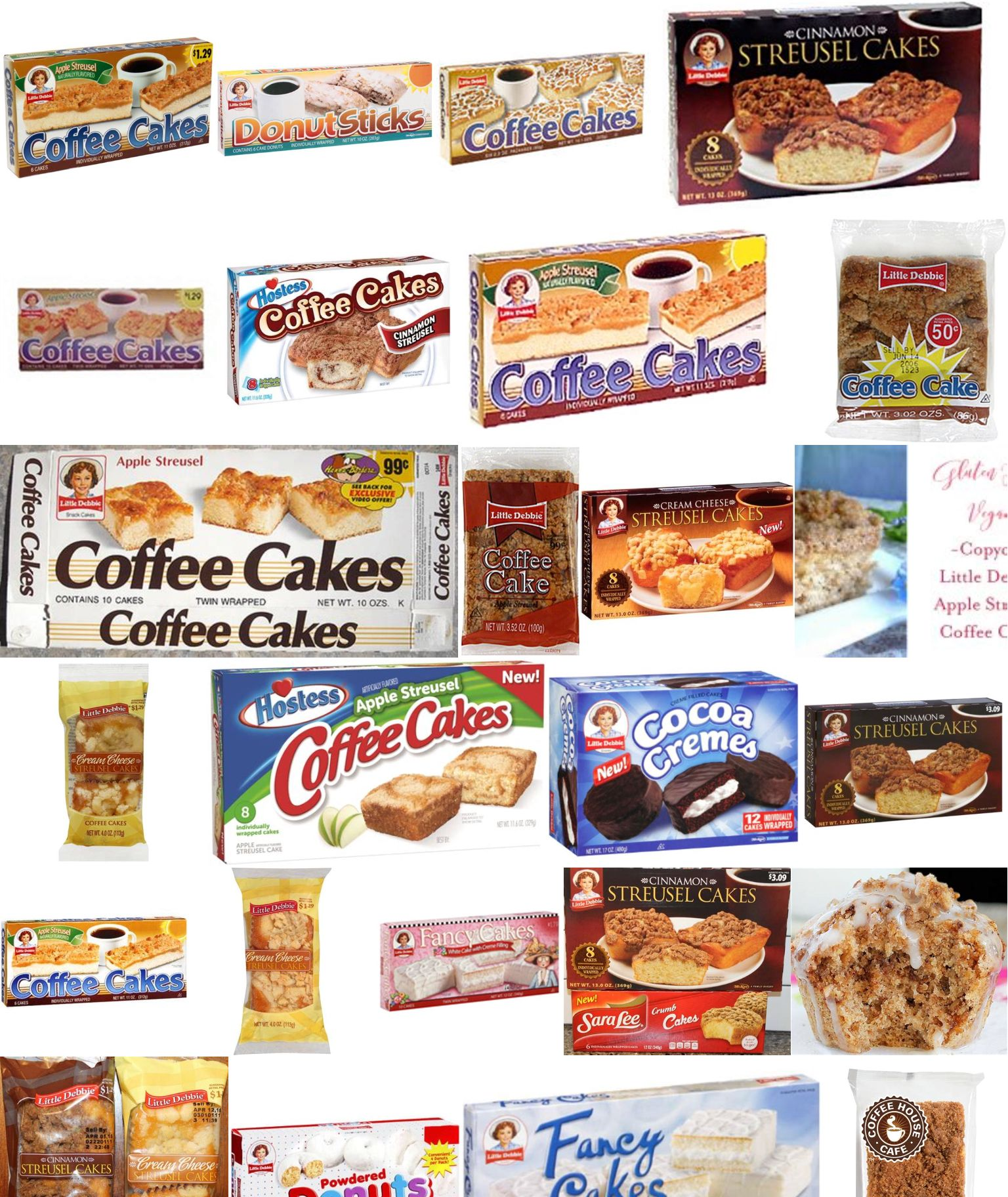 hostess coffee cakes ingredients
