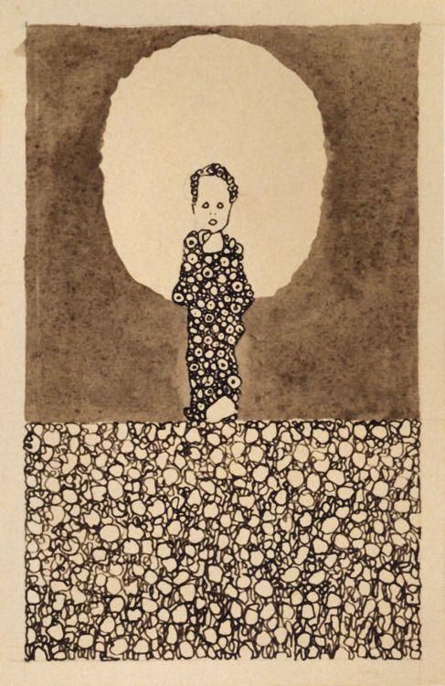 1909 Schiele Egon Enfant Avec Un Halo Dans Un Champ De Fleurs 4