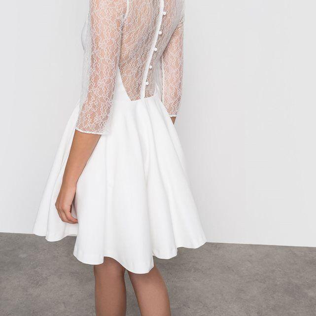 4c8189e234 Petite robe de mariée civile et courte Mademoiselle R - La Redoute ...