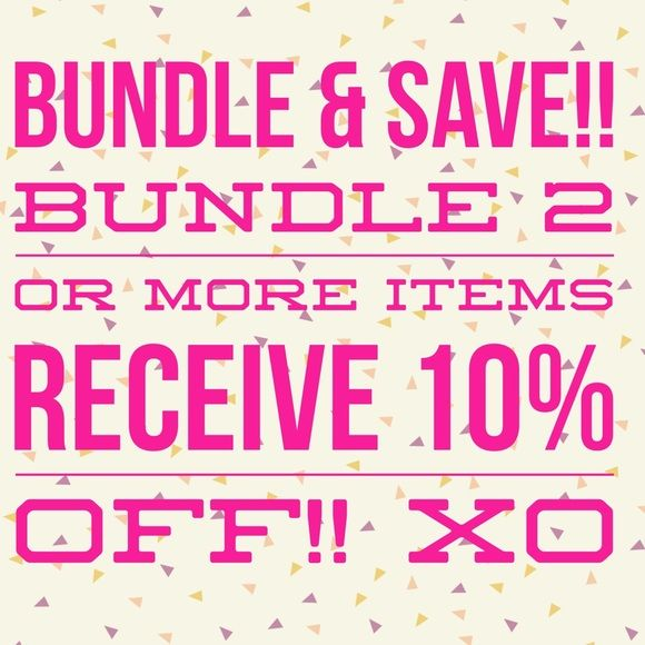 Bundle & Save!!! 10% off bundles of 2 or more listings!! Any questions, please don't hesitate! xo 😘 Other