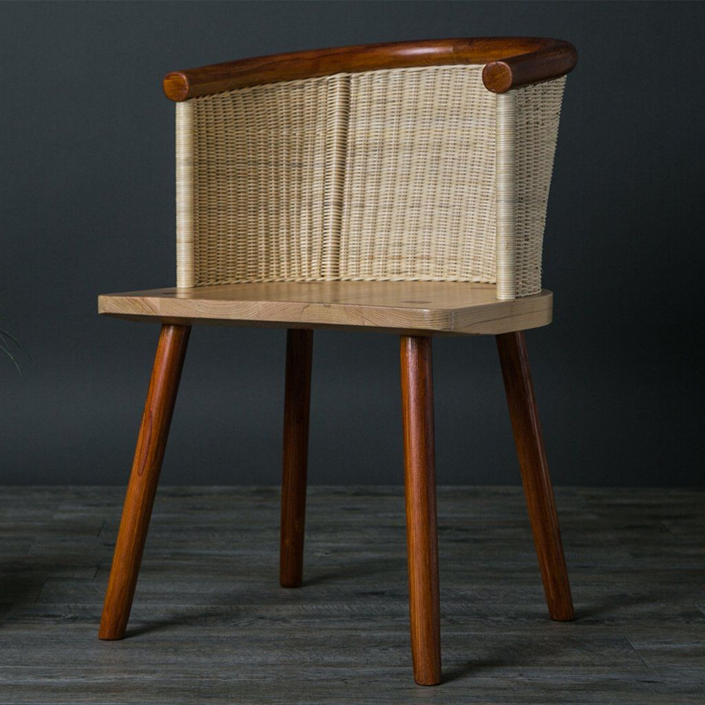 Hand Knitted Wickerwork Chair Made In Mexico Mexican Style Decor Cedar Wood Furniture