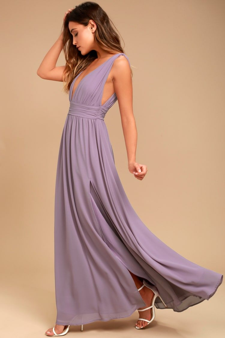 7c53840b41 Heavenly Hues Dusty Purple Maxi Dress