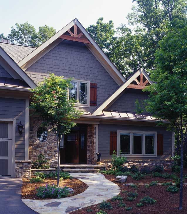 Low Maintenance Was Theme For This Vacation Timber Frame