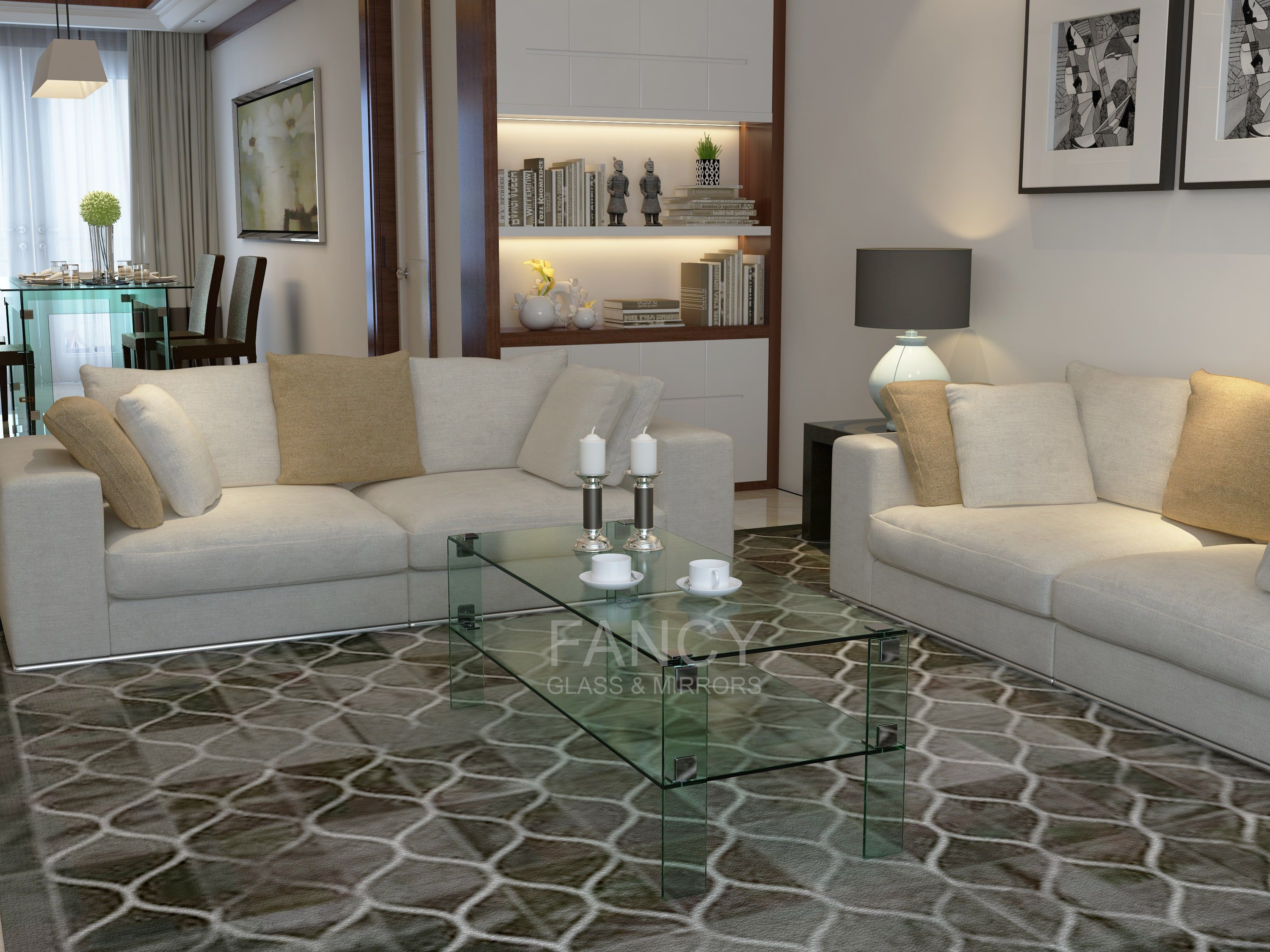 Marocco Two Tier Glass Coffee Table Is An Example Of A Great Combination Of Style And Comfort In One Piece Si Coffee Table Glass Furniture Glass Coffee Table [ 2250 x 3000 Pixel ]