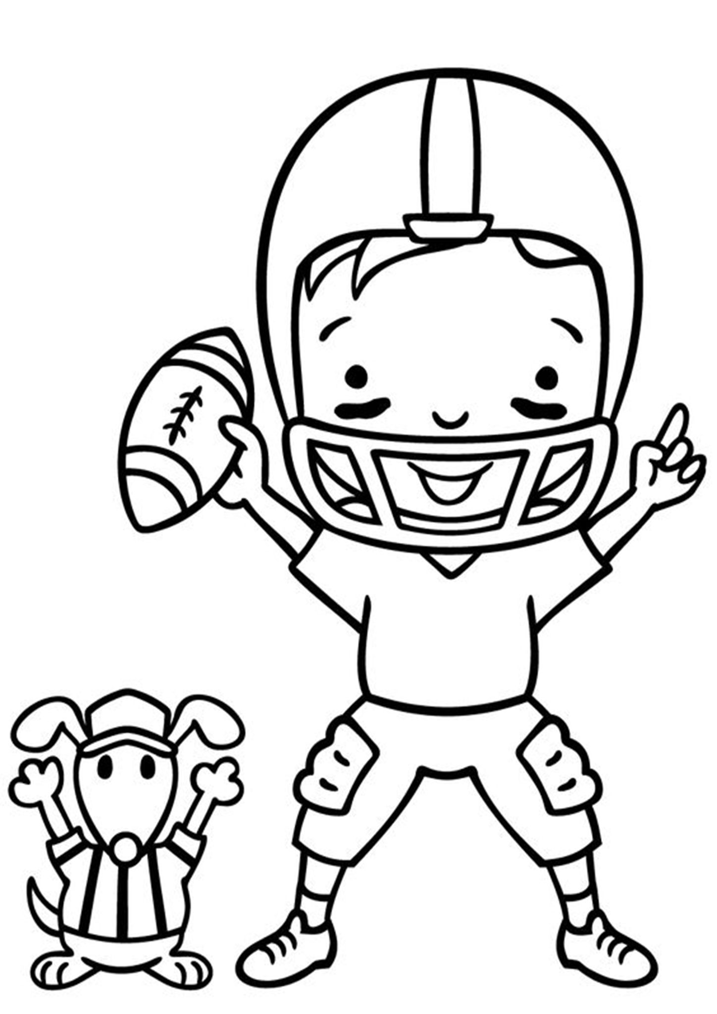 Free Easy To Print Football Coloring Pages Football Coloring Pages Digi Stamps Coloring Pages [ 2048 x 1448 Pixel ]