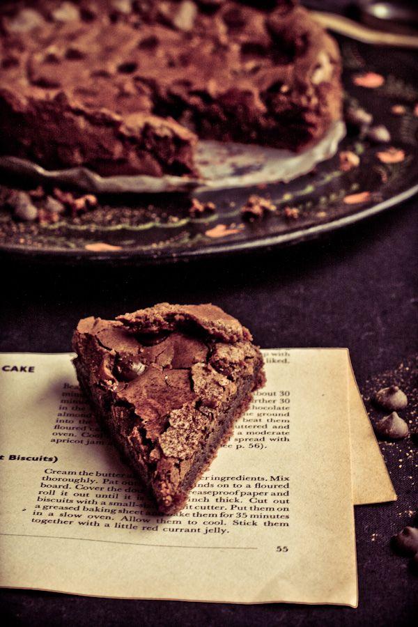 Sticky Dark Chocolate Cake. #food #cakes #desserts