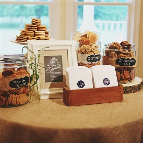 cookie display put some bags out for the cookies so folks can take