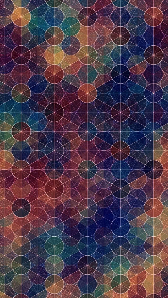 Abstract Circles Pattern IPhone Wallpaper