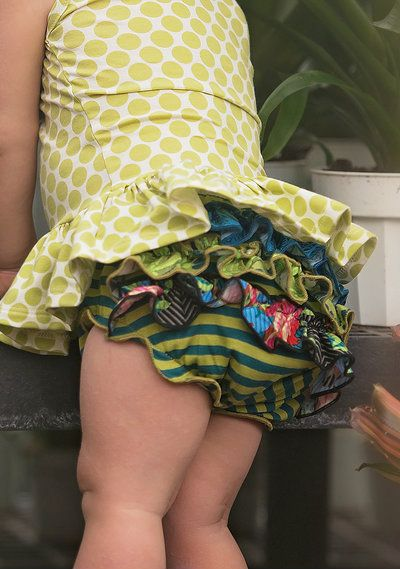One Good Thread - Persnickety | Layette - Gigi Ruffle Diaper Cover - Forget Me Not