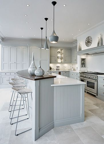 Kitchen Island Ideas   Grey Family Kitchen U2013 Tom Howley
