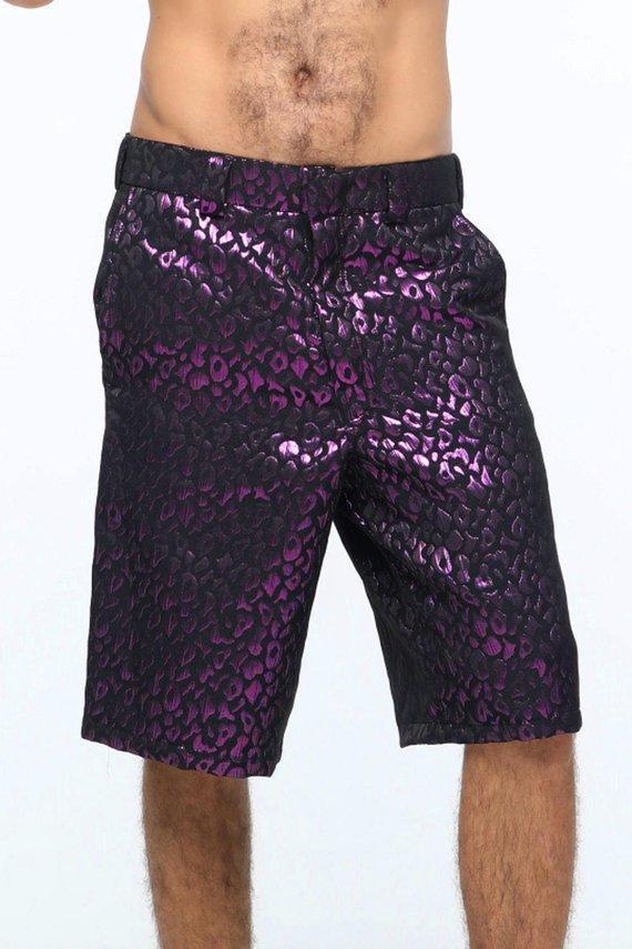 disco shorts mens shorts holographic clothing burning man mens