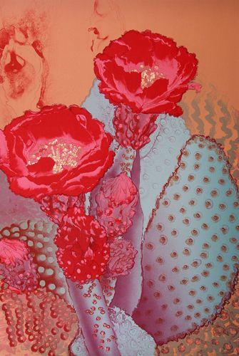 """Sandra Kaplan  color lithograph  30"""" X 40"""""""