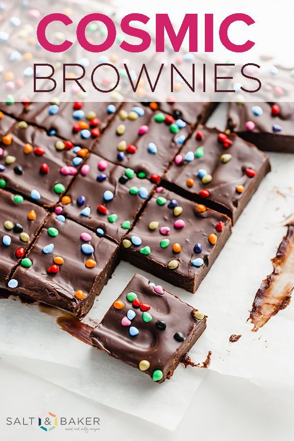 Cosmic Brownies Recipe Copycat Cosmic Brownies are all the rage! These cute chocolate treats are ma