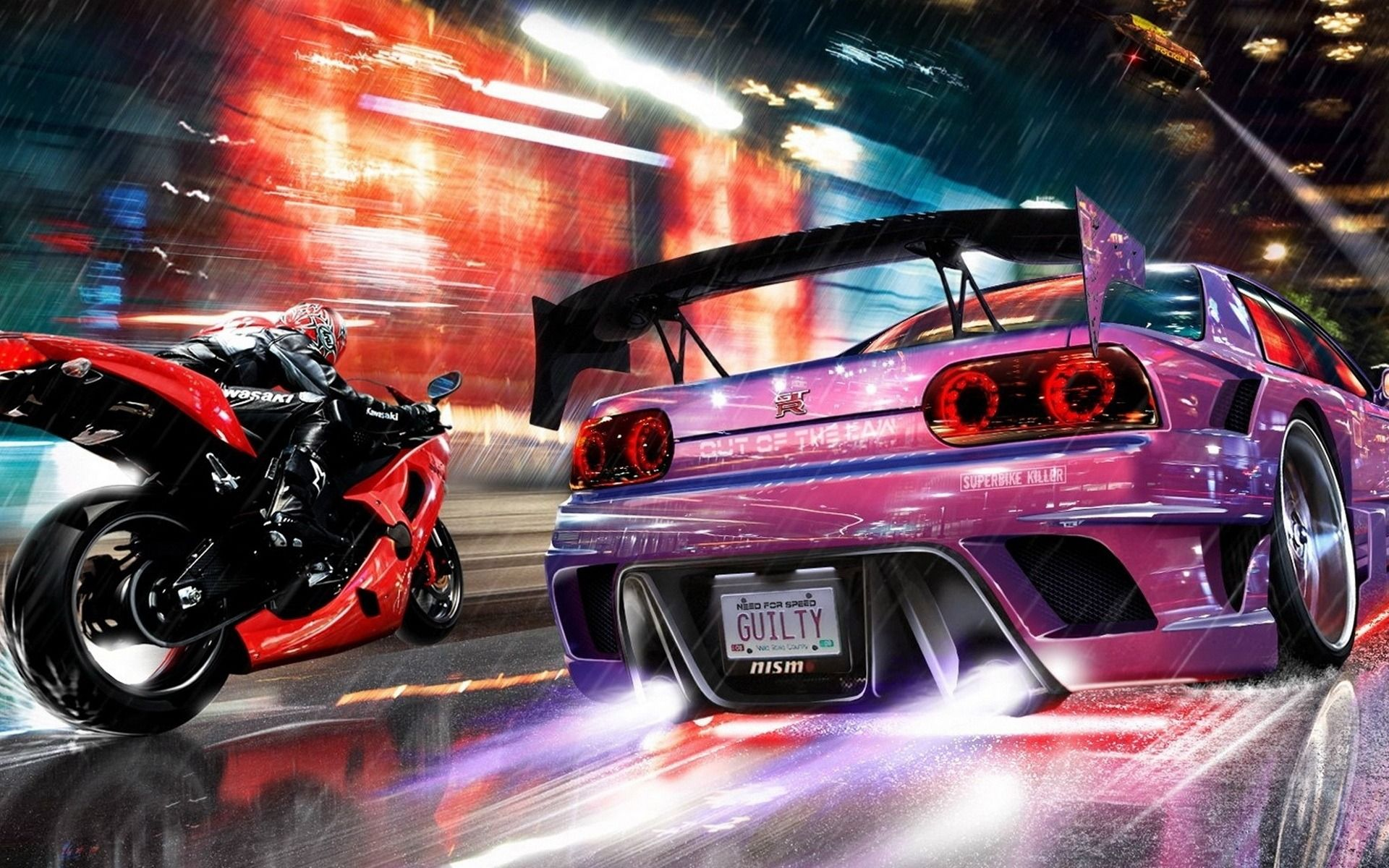 Desktophdwallpaper Org Car Wallpapers Cars Music Nissan Gtr