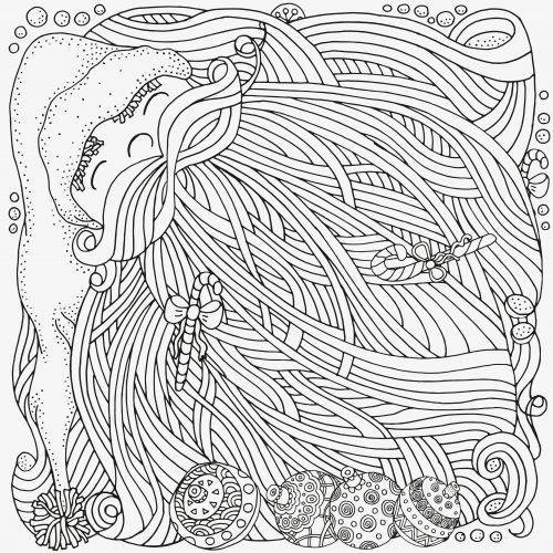Advanced Christmas Coloring Page 19 Father christmas