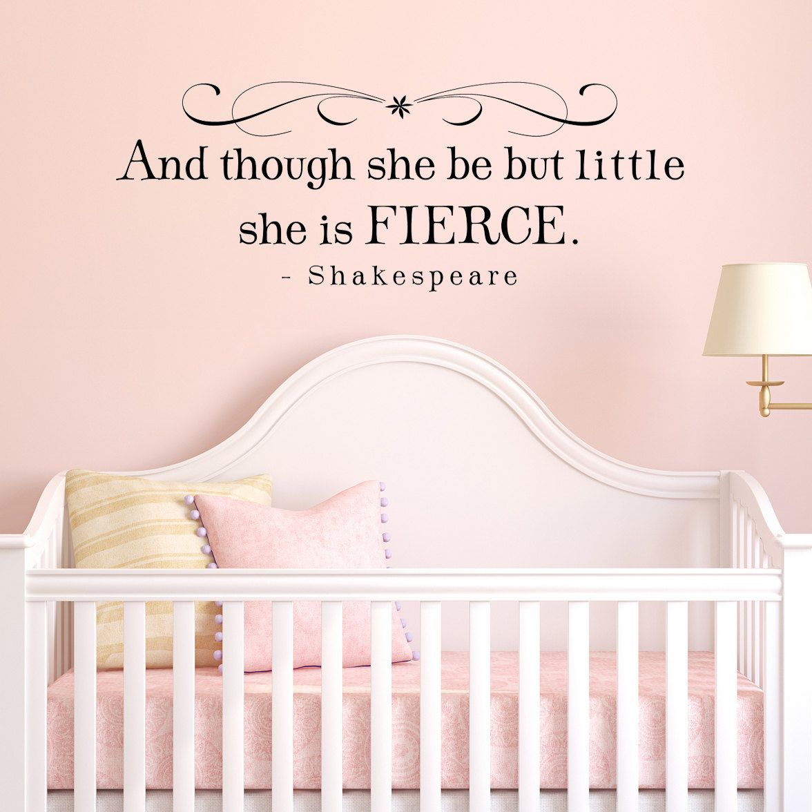 She is fierce decal and though she be but little shakespeare