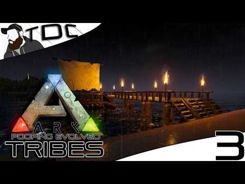 ARK SURVIVAL EVOLVED BOAT DOCK DESIGN! Episode 3 (Gameplay - new blueprint ark survival