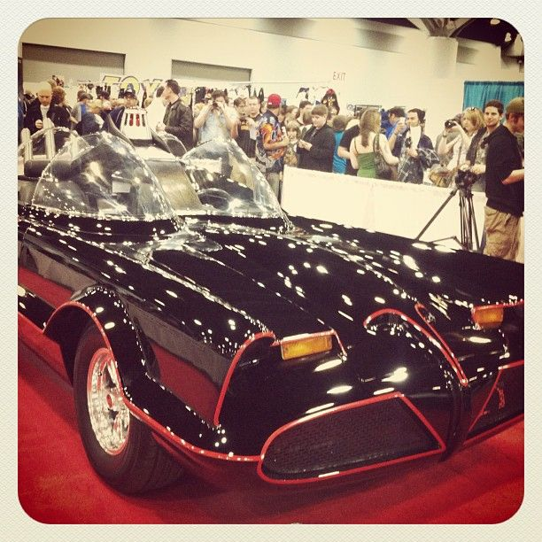 Sweeeeeet ride. Original Batmobile from the Batman TV series at FanExpo in Vancouver