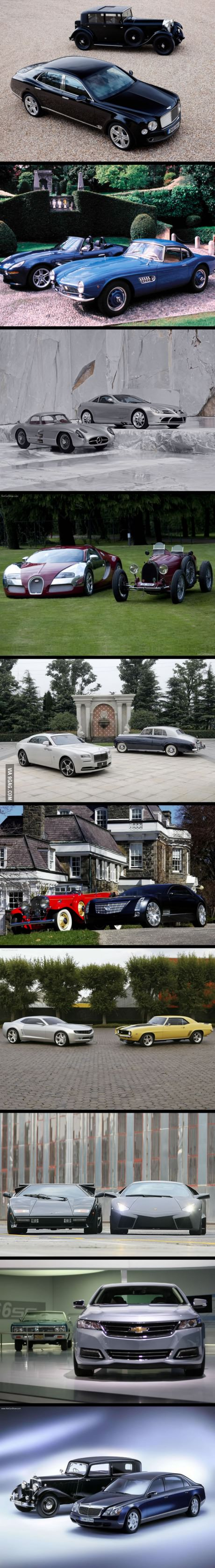 Car then and now.