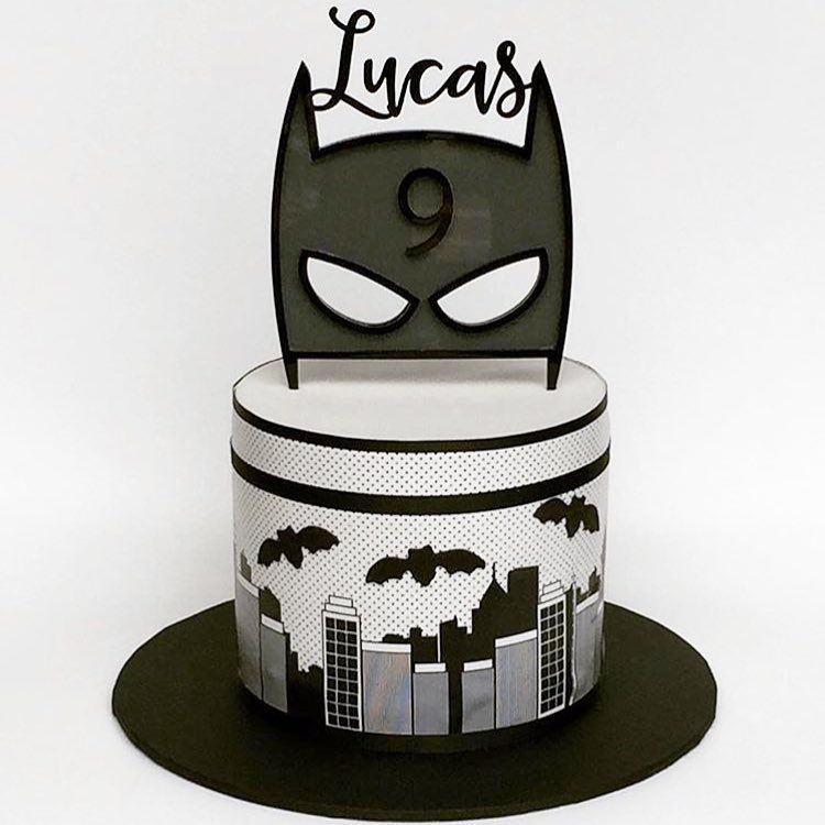 A Custom Take On Our Batman Mask Cake Topper With The Birthday Boys Name And Age This Awesome By Allthingssweetbylydia Edible Image