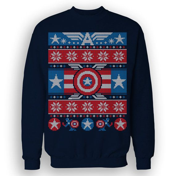Winter Soldier Christmas Sweater Festive Cap America Comic