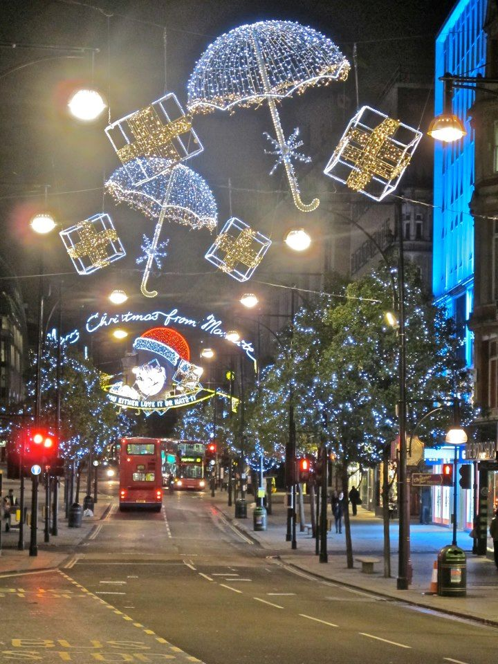 Oxford Street London 2012 London Christmas Lights London Christmas Christmas Town