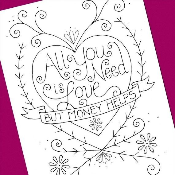 All You Need Is Love Embroidery Pattern Embroidery Patterns And Etsy