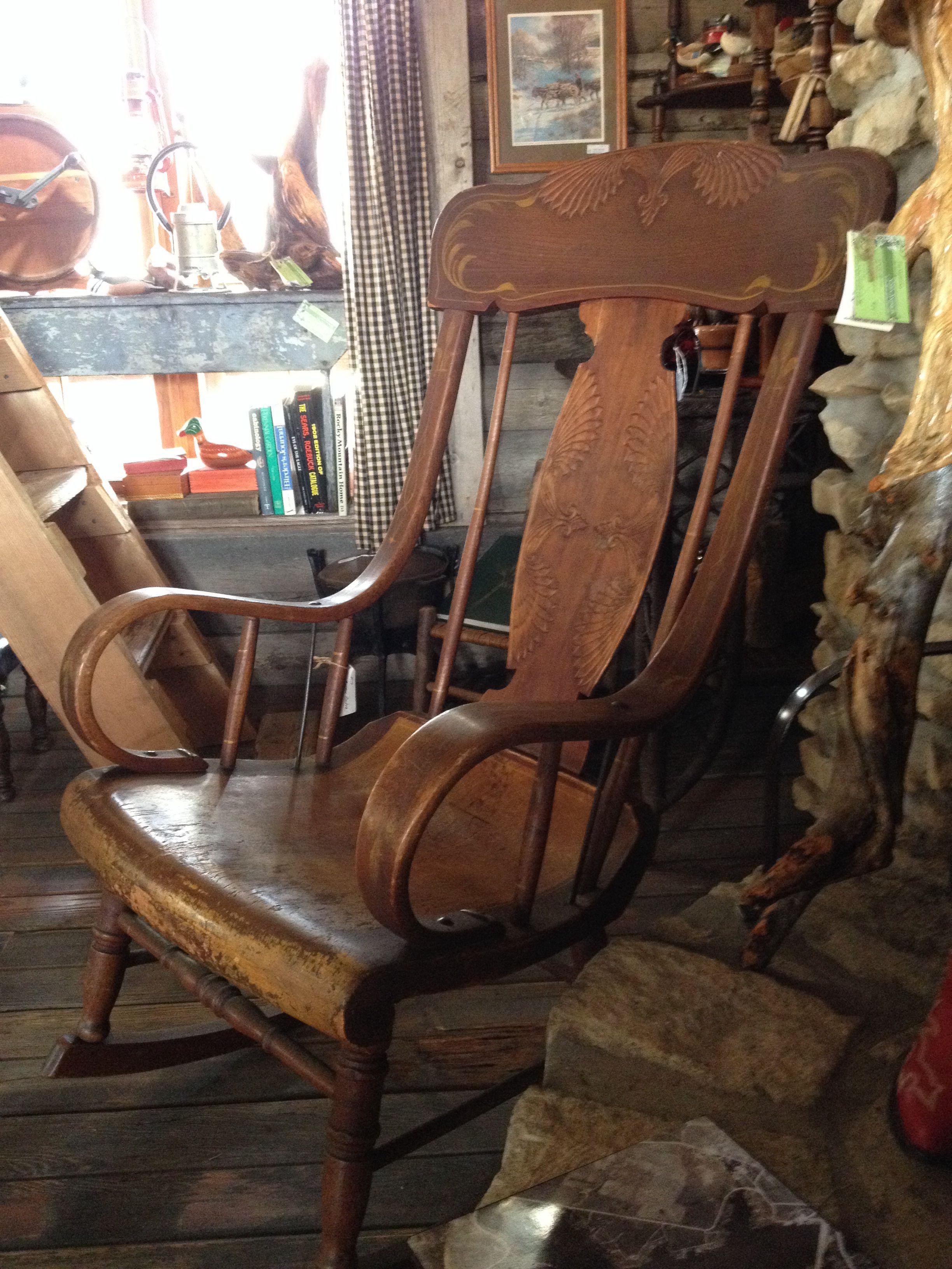 Terrific Fiddle Back Rocker In 2019 Wooden Rocking Chairs Rocking Inzonedesignstudio Interior Chair Design Inzonedesignstudiocom