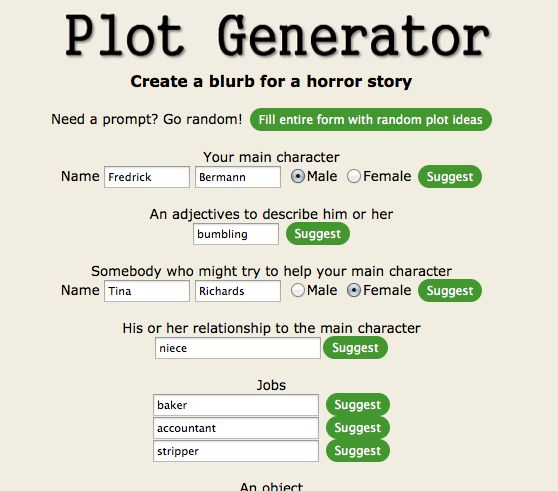 Plot Generator for all genres Online Gamification Tools Pinterest - resume generator