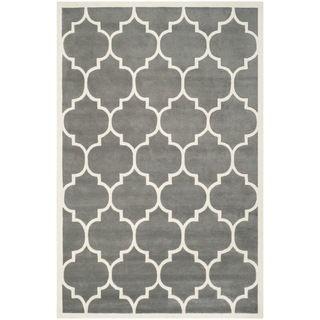 Safavieh Handmade Moroccan Chatham Dark Grey Wool Rug 89 X 12