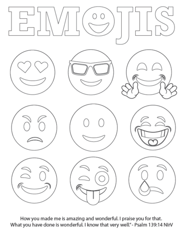 emoji coloring pages free Emojis Bible Verse Coloring Page   FREE | Children's Pastor Only  emoji coloring pages free