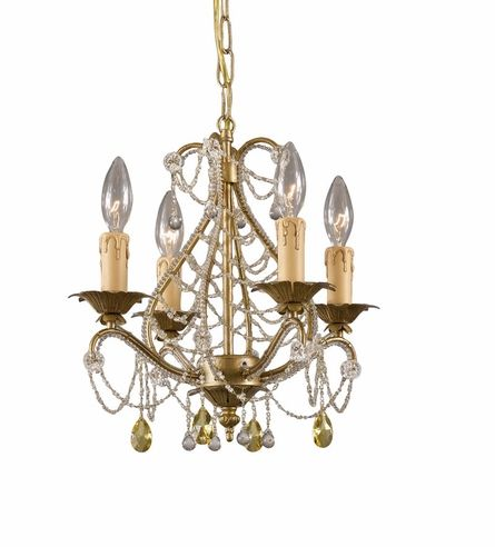 On sale gold leaf wrought iron mini chandelier with murano crystals kids furniture art bedding mini chandelierclear aloadofball Gallery