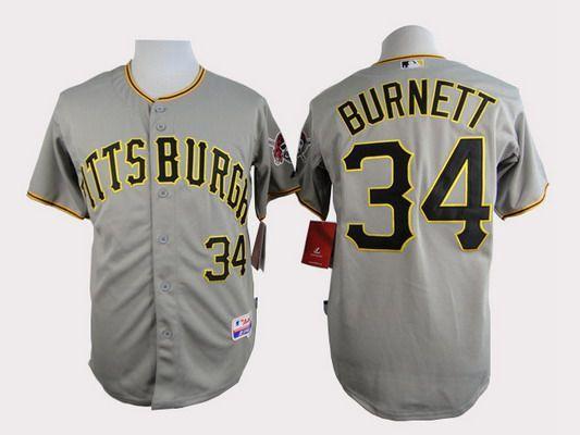 Men's Pittsburgh Pirates #34 A. J. Burnett White Jersey