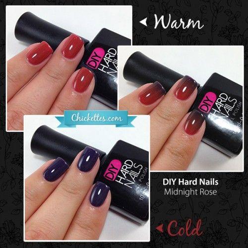 DIY Hard Nails - Midnight Rose