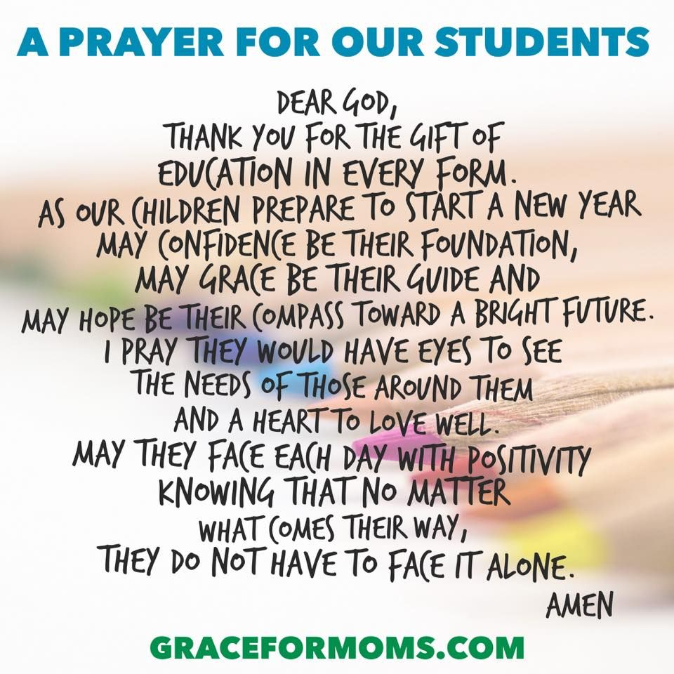 Back to School Prayer for Teachers and Students - Grace for