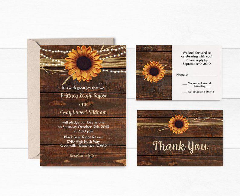 Rustic Fall Wedding Invitation, Barn Wedding Invitation ...