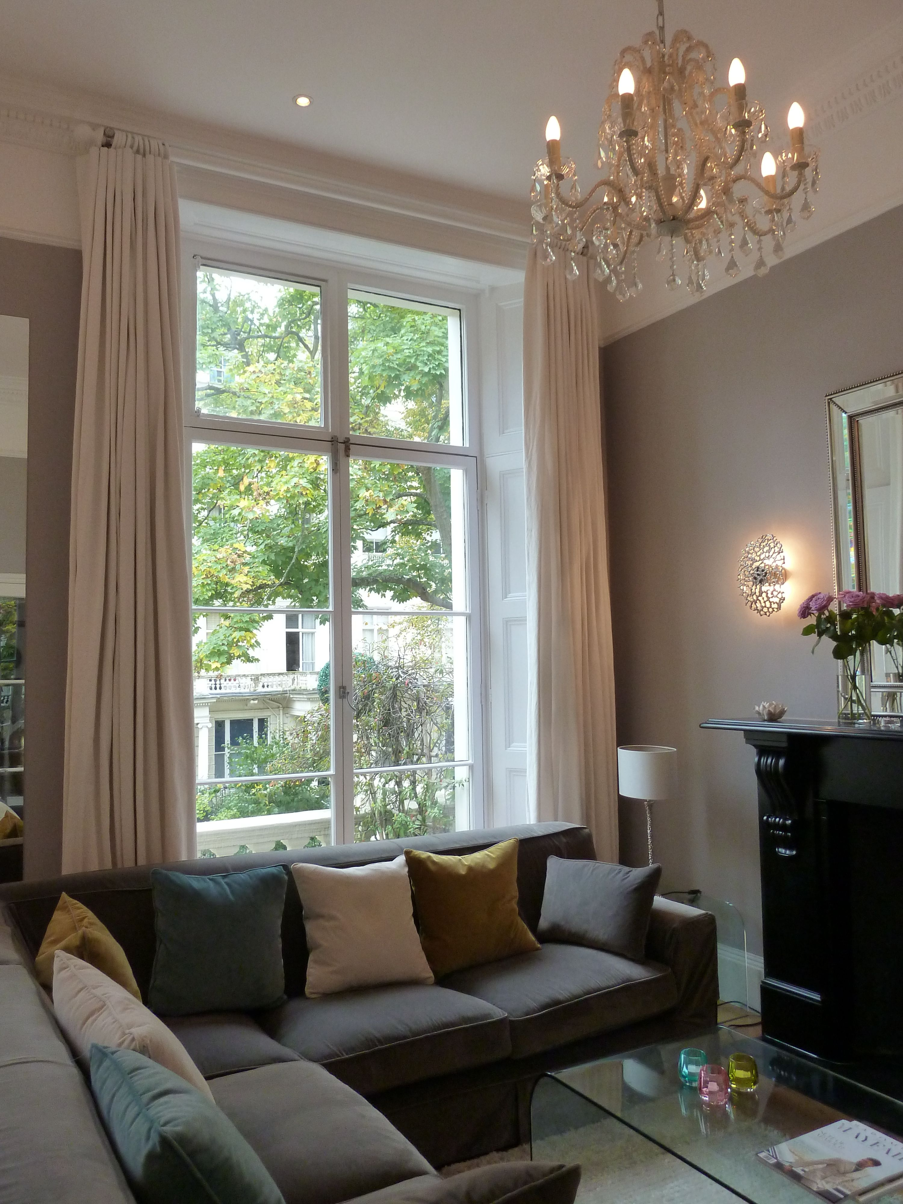 london apartment update 2015 walls painted in perennial grey from little greene curtains in - Painted Wood Home 2015