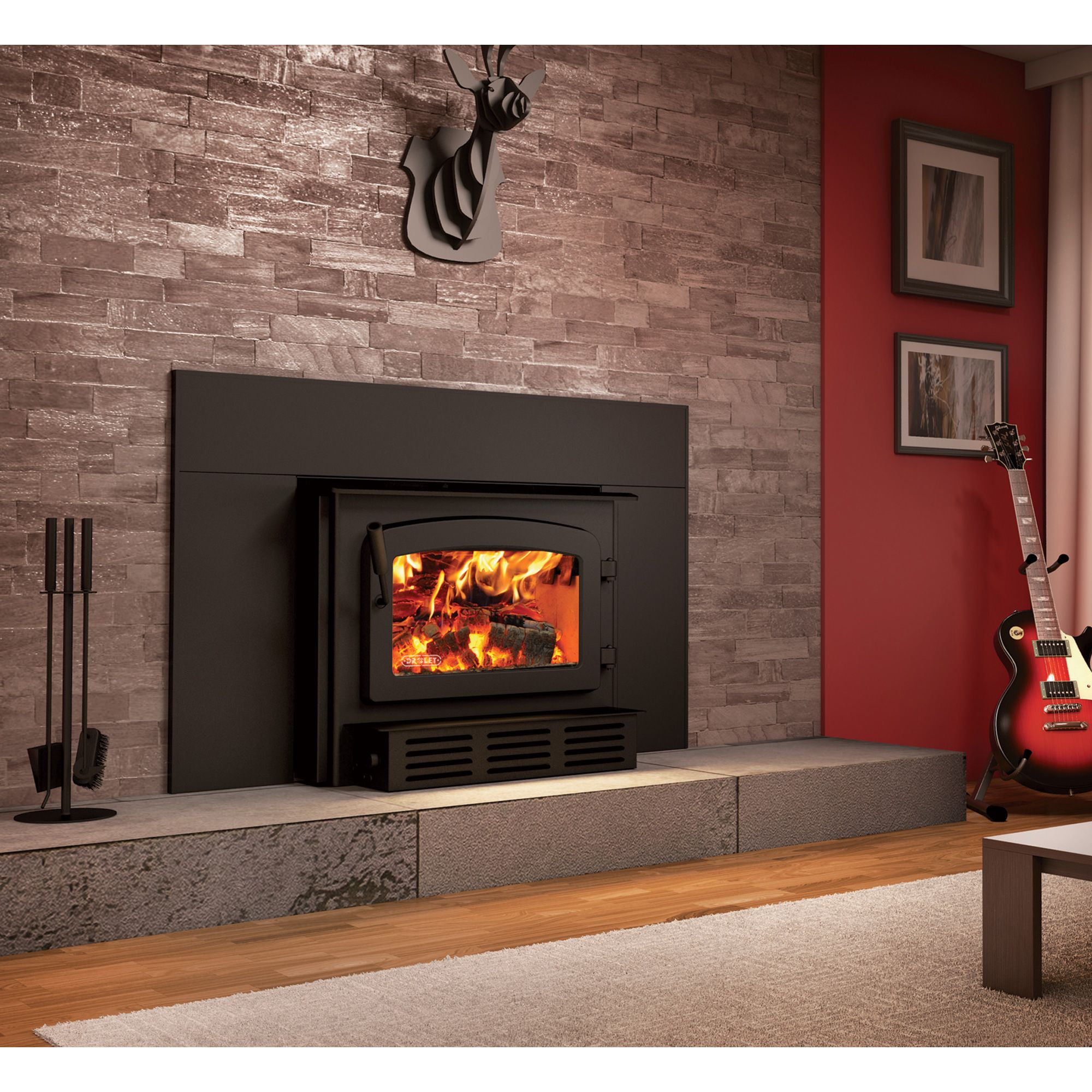 drolet escape 1800i fireplace wood insert 75 000 btu epa