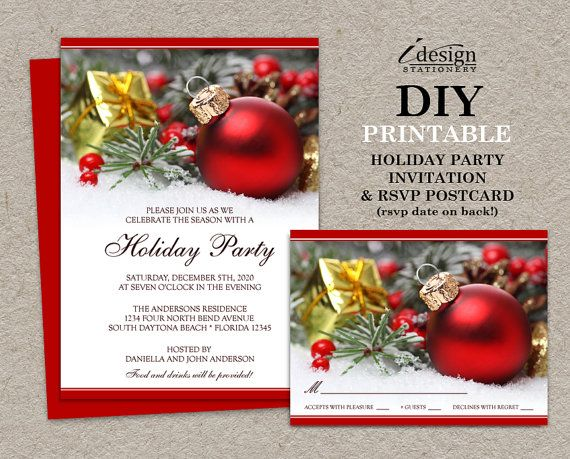 Festive Christmas Invitations With Rsvp Cards By Idesignstationery