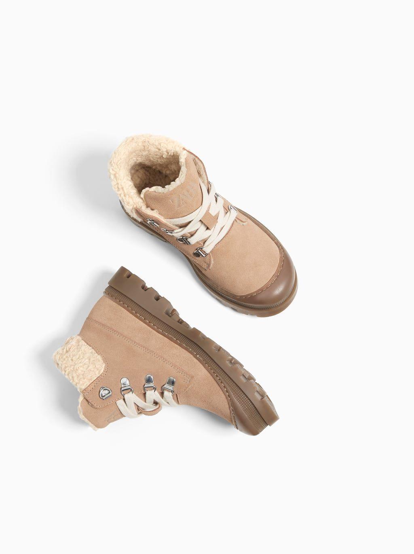 Zdjecie 6 Skorzane Botki Ocieplane Z Zara Leather Ankle Boots Ankle Boots Boots