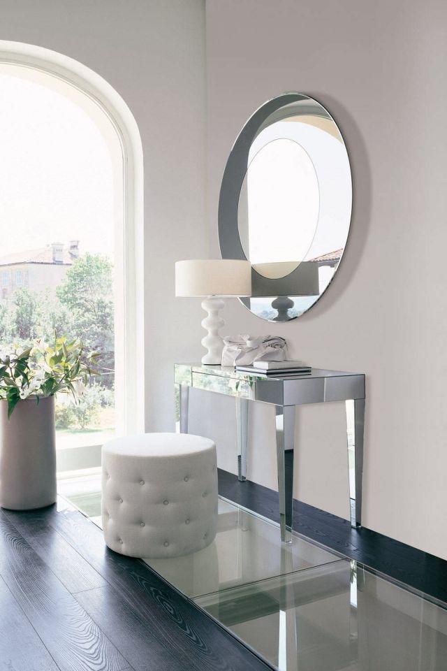 Schminktisch Modern Designs Verspiegelter Tisch Spiegel Rund BEAUTY Opera  Porada